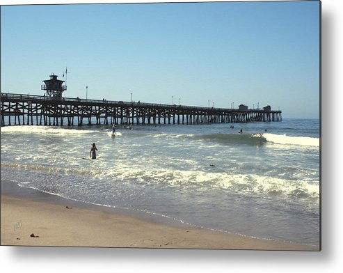 Beach Metal Print featuring the photograph Beach View With Pier 2 by Ben and Raisa Gertsberg