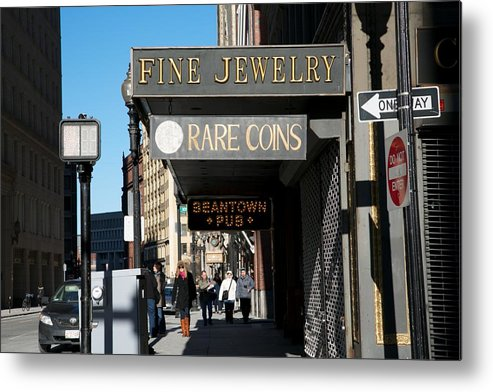 Tremont Street Metal Print featuring the photograph Beantown Pub by Allan Morrison