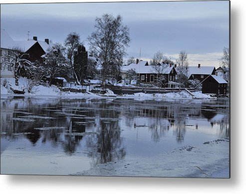 #arboga #sweden #sverige #photography #snow #winter #ice #water Metal Print featuring the photograph Beatiful Arboga by Stefan Pettersson