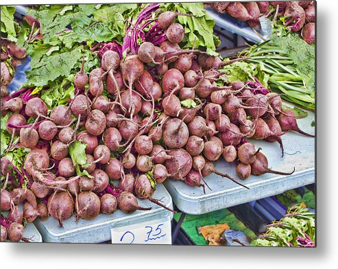 Beets Metal Print featuring the photograph Beets At The Farmers Market by Cathy Anderson