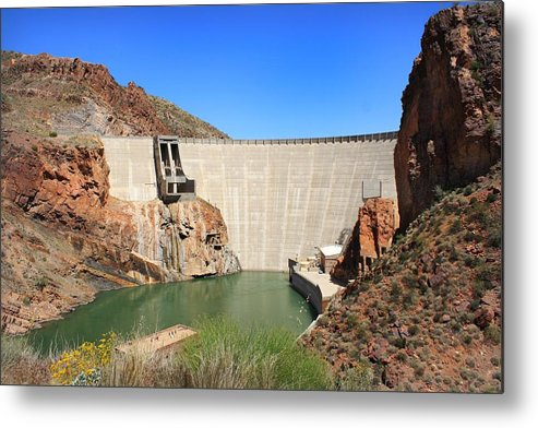 Arizona Metal Print featuring the photograph Below The Dam by Elizabeth Cernik
