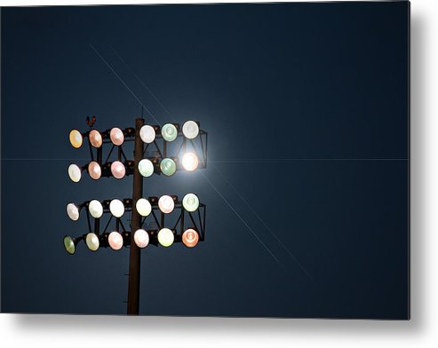 Lights Metal Print featuring the photograph Beneath Friday Night Lights by Trish Mistric