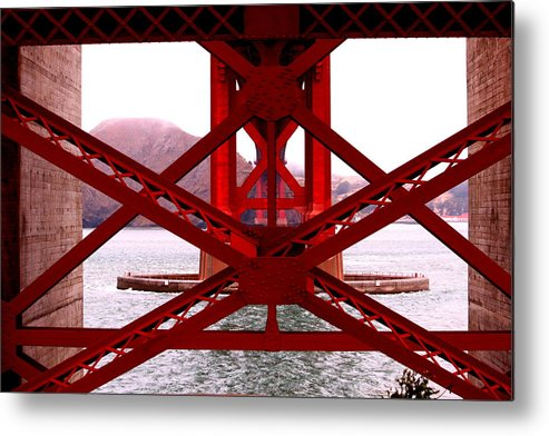 California Metal Print featuring the photograph Beneath The Golden Gate by Nick Busselman