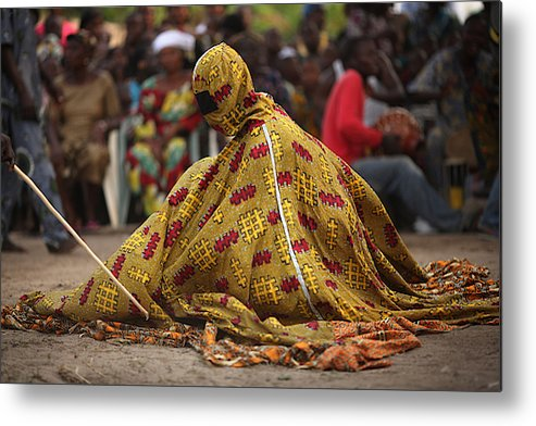 Benin's Mysterious Voodoo Religion Is Celebrated In Its Annual Festival  Metal Print