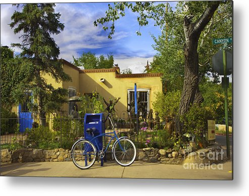 Bicycle Metal Print featuring the photograph Bicycle In Santa Fe by Madeline Ellis