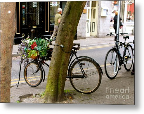 Bicycle Metal Print featuring the photograph Bicycle by Lesley O' Farrell