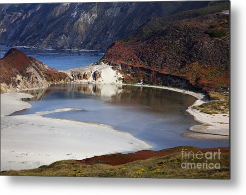Beach Metal Print featuring the photograph Big Sur Coastal Pond by Jenna Szerlag