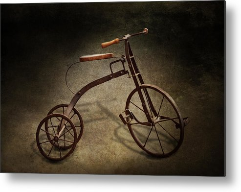 Hdr Metal Print featuring the photograph Bike - The Tricycle by Mike Savad