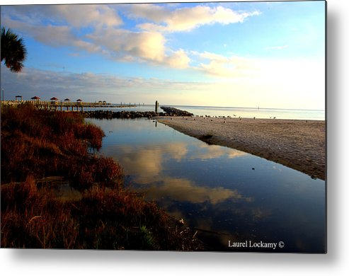 Biloxi Is So Pretty Metal Print featuring the photograph Biloxi Is So Pretty by Laurel Lockamy