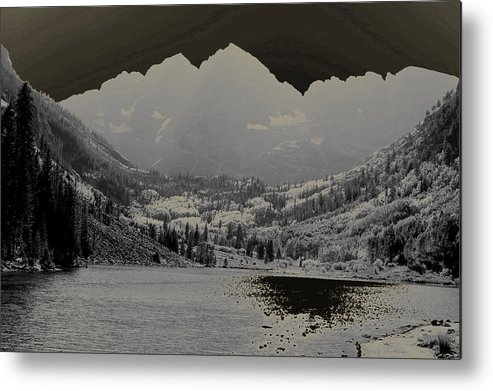 Maroon Bells Metal Print featuring the photograph Black Bells by Jeremy Rhoades