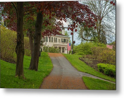 Maine Metal Print featuring the photograph Blaine House by Norm Rodrigue