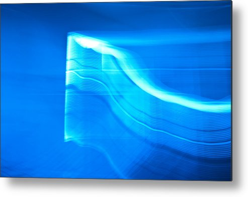 Blue Metal Print featuring the photograph Blue Abstract 3 by Mark Weaver