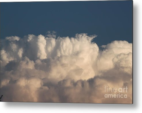 Clouds Metal Print featuring the photograph Blue And White by Natalya Streufert
