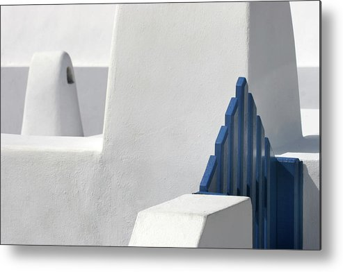 Blue Metal Print featuring the photograph Blue Gate by Hans-wolfgang Hawerkamp