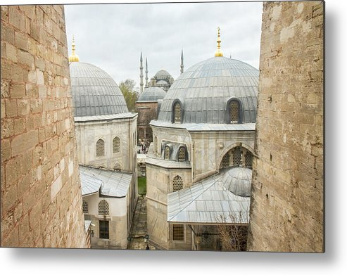 Blue Mosque Metal Print featuring the photograph Blue Mosque View From Hagia Sophia by For Ninety One Days