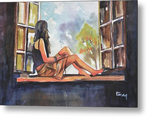 Metal Print featuring the drawing Blue Sky by Parag Pendharkar