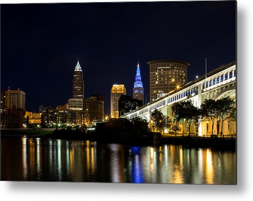 Cleveland Ohio Metal Print featuring the photograph Blues In Cleveland Ohio by Dale Kincaid