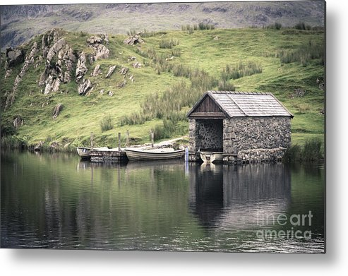 Boat Metal Print featuring the photograph Boathouse by Jane Rix