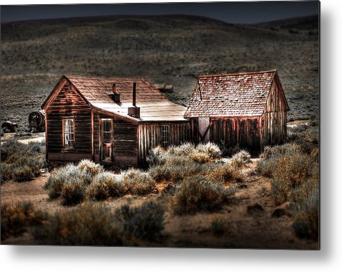 Bodie House Metal Print featuring the photograph Bodie House by Chris Brannen