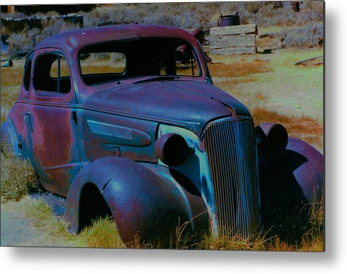 Barbara Snyder Metal Print featuring the digital art Bodie Plymouth by Barbara Snyder