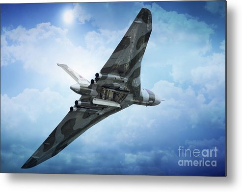 Vulcan Bomber Xh558 Metal Print featuring the digital art Bombs Gone by J Biggadike