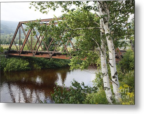 New England Metal Print featuring the photograph Boston And Maine Railroad - Bretton Woods New Hampshire Usa by Erin Paul Donovan