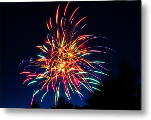 Fireworks Metal Print featuring the photograph Boston Fireworks by Tom Wilder