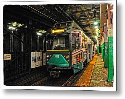Train Metal Print featuring the photograph Boston's Mbta Green Line by Mike Martin
