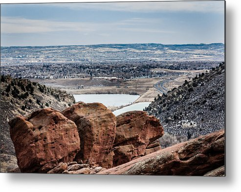 Colorado Metal Print featuring the photograph Boulders At Red Rocks by Karen Saunders