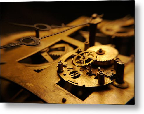 Clock Metal Print featuring the photograph Breach Of Time by Jon Emery