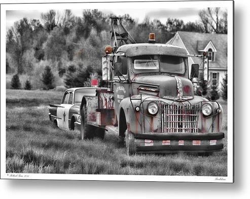 Automobile Metal Print featuring the photograph Break Down by Richard Bean