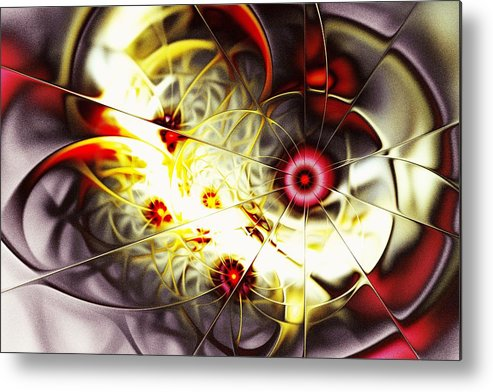 Abstract Metal Print featuring the digital art Breakthrough by Anastasiya Malakhova