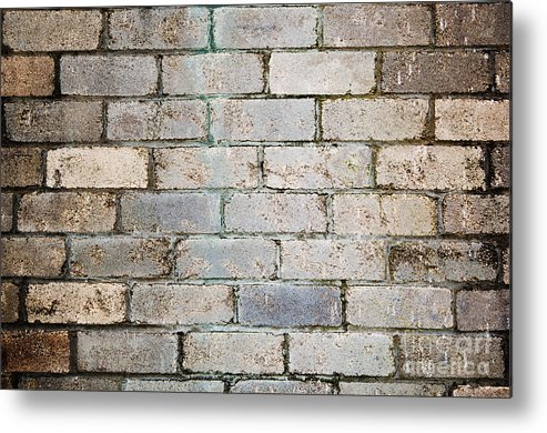 Aged Metal Print featuring the photograph Brick Wall by Tim Hester