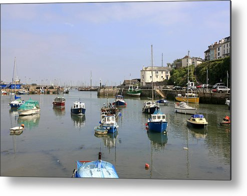 Brixham Metal Print featuring the photograph Brixham In Devon by Chris Smith