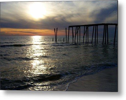 Sunset Metal Print featuring the photograph Broken Pier by Tania Eddingsaas
