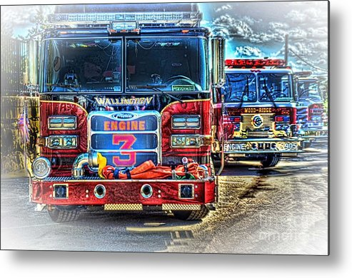 Fire Trucks Metal Print featuring the photograph Brute Strength by Arnie Goldstein