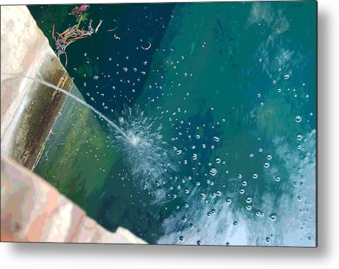 Digital Art Metal Print featuring the photograph Bubble Abstract by Suzanne Gaff