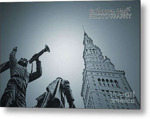 Sculpture Metal Print featuring the photograph Bugle Boy by Shawn Huff