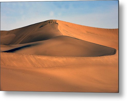 Mountains Metal Print featuring the photograph Burnished And Blue by Bryan Shane