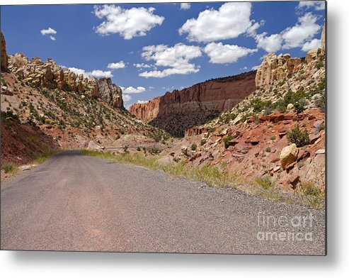 Utah Metal Print featuring the photograph Burr Trail Road Through Long Canyon by Rick Pisio