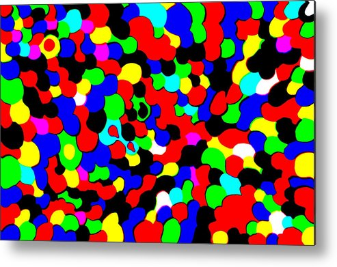 Colors Metal Print featuring the photograph Busy Heads by Christopher Rowlands