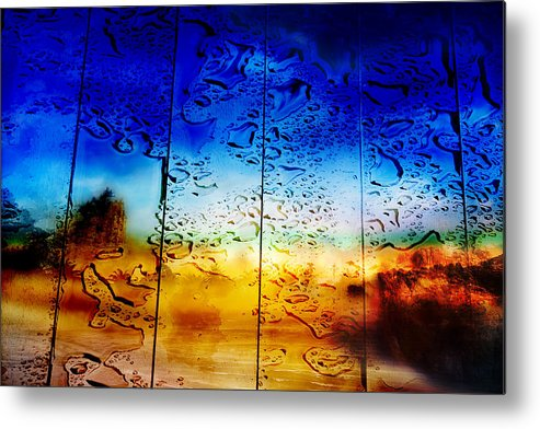 Blue Metal Print featuring the photograph Forgiveness Is ... by Alias Alma