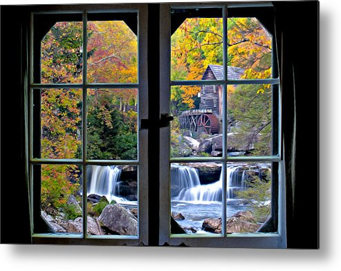 Babcock State Park Metal Print featuring the photograph Cabin 11 At Babcock by Williams-Cairns Photography LLC