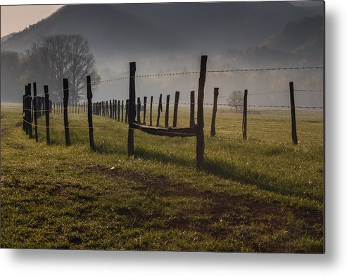 Great Smoky Mountains National Park Metal Print featuring the photograph Cades Cove Sunrise by Jay Stockhaus