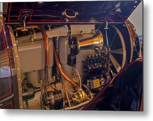 Cadillac Engine Metal Print featuring the photograph Cadillac Heartbeat by Calazone's Flics