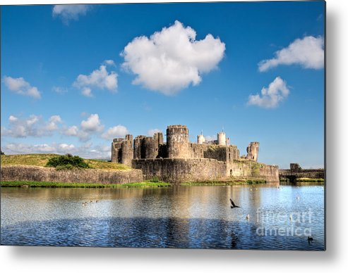 Caerphilly Castle Metal Print featuring the photograph Caerphilly Castle 1 by Steve Purnell