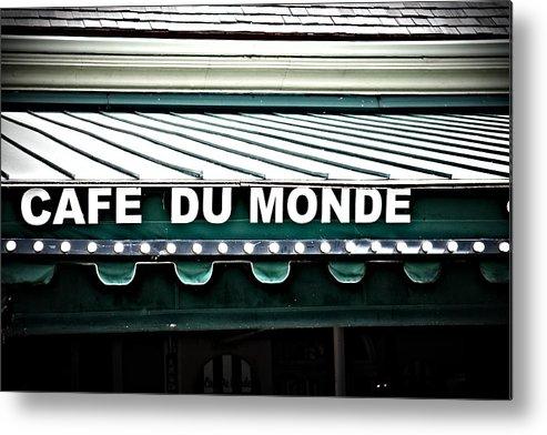 Cafe Du Monde Metal Print featuring the photograph Cafe Du Monde by Gregory Cox