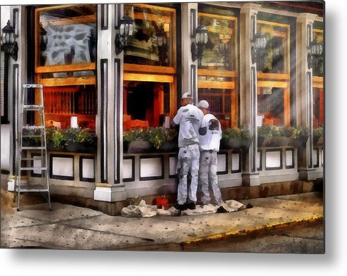Savad Metal Print featuring the photograph Cafe - The Painters by Mike Savad