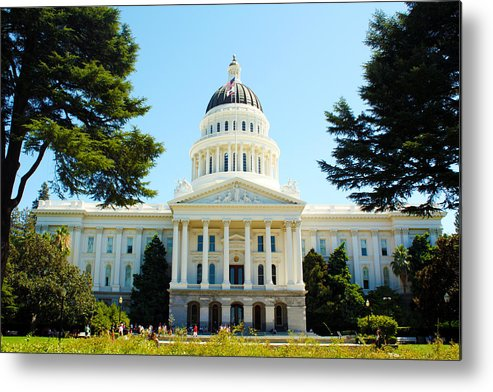 California Metal Print featuring the photograph California Capitol by Calphy Com