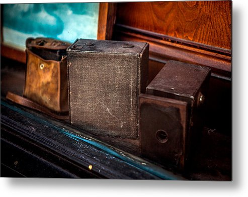 Old Camera's Metal Print featuring the photograph Camera's by Sennie Pierson